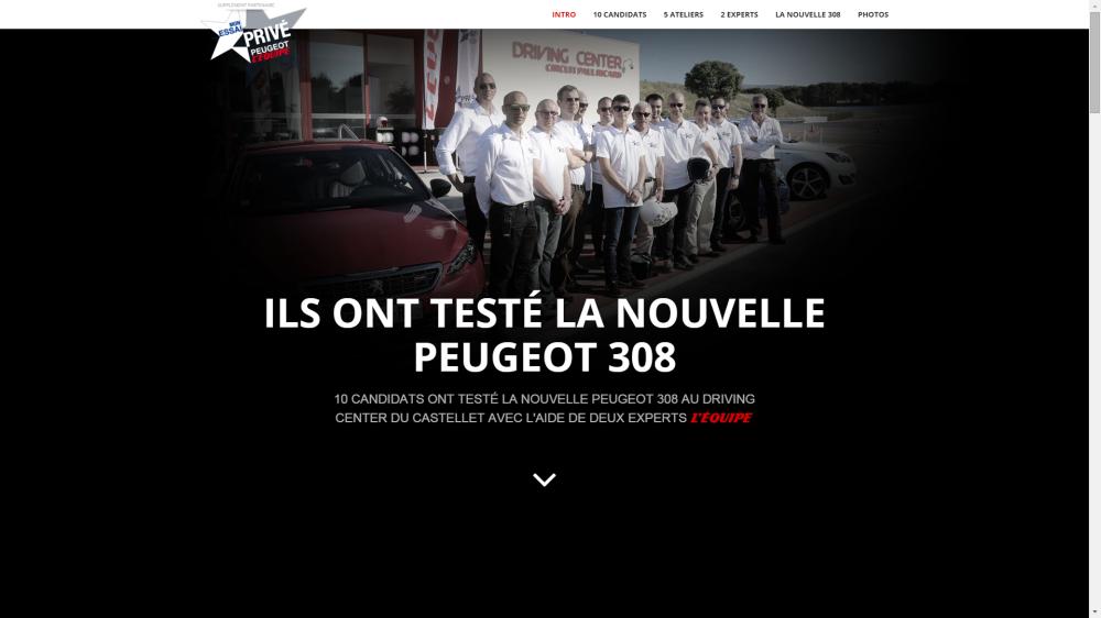 Mon Essai Privé - Peugeot L'Équipe